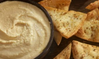 dip and corn chips