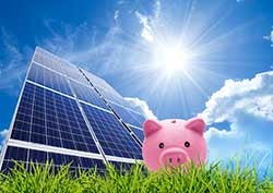 saving concept with photovoltaic