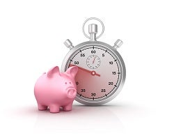 Piggy Bank and Stopwatch