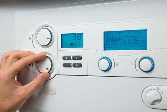 hot water system settings