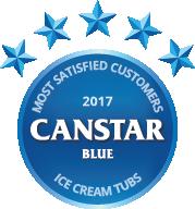 2017 award for ice cream tubs