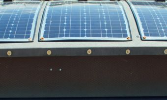 Solar panels on a narrowboat