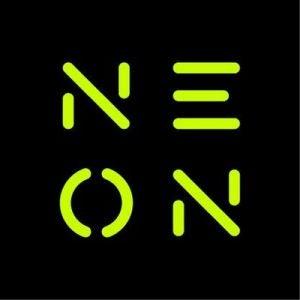 neon streaming TV logo