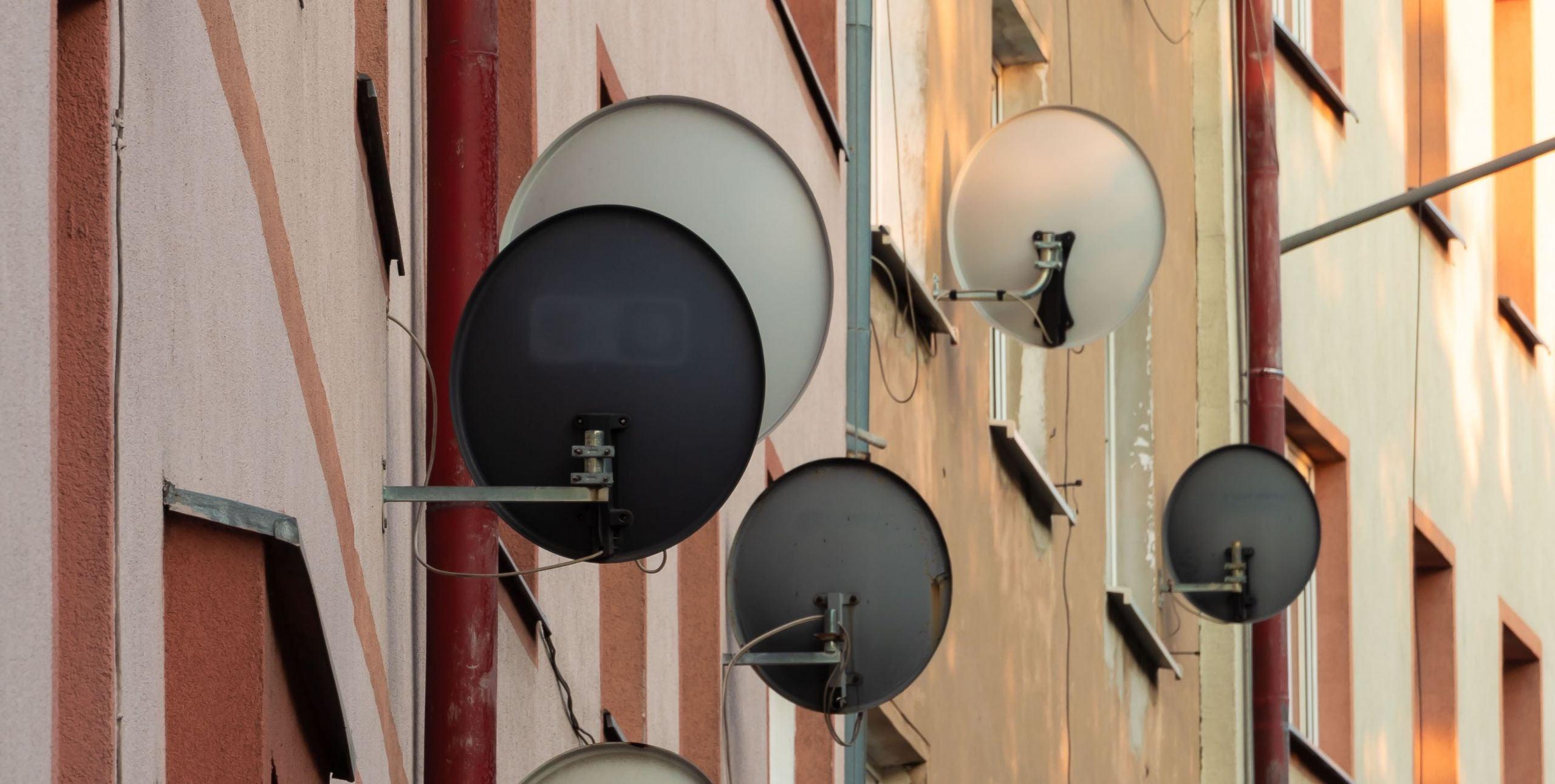 Starlink satellite dishes