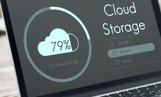 cloud storage: laptop