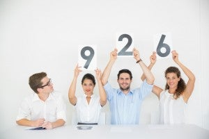 Panel judges score