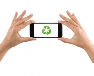 Smartphone recycle symbol