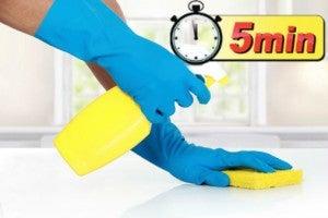 5 minute clean