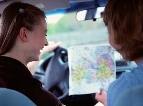 Looking at a car map