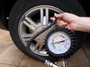 Car tyre pumping