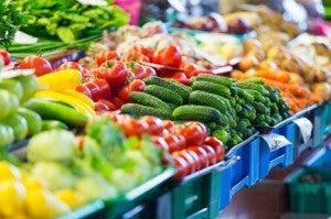 Healthy supermarket aisle