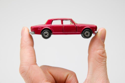 Small toy car fingers