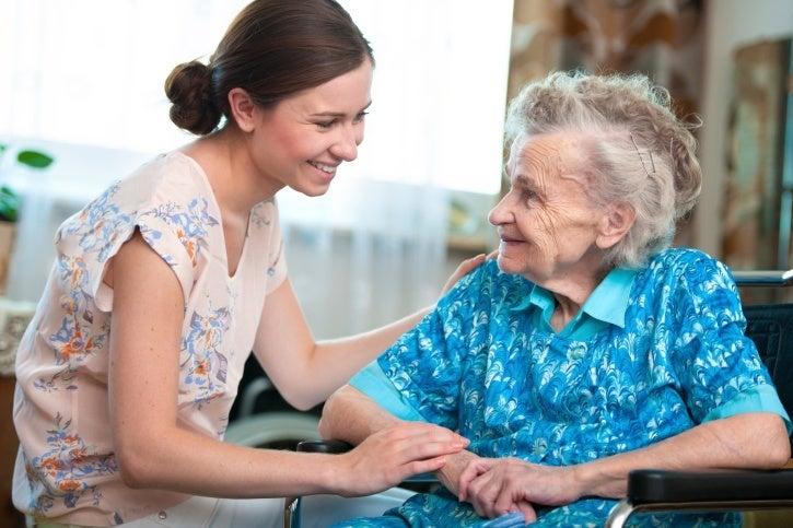 elderly smiling